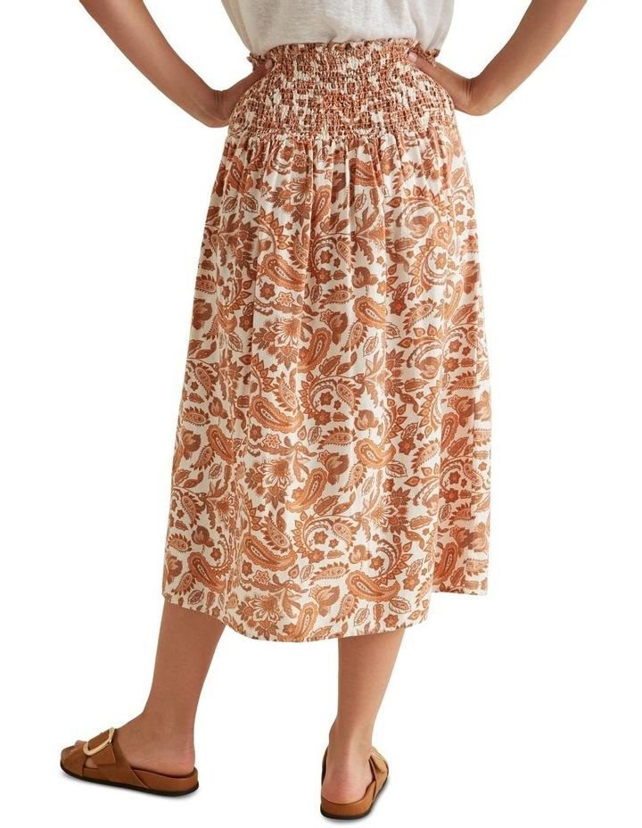 Shirred Paisley Skirt image 3