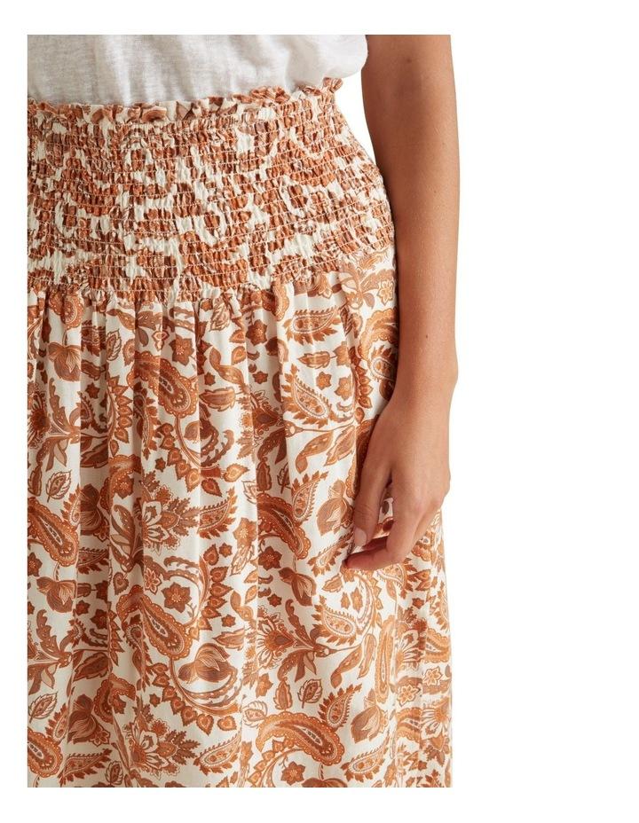 Shirred Paisley Skirt image 4