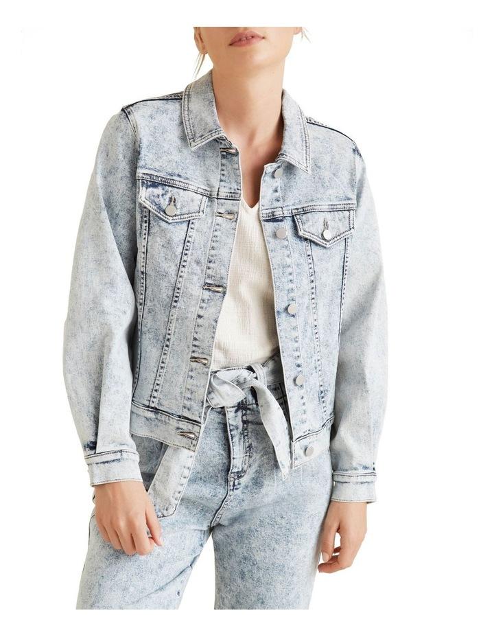 Oversized Sleeve Denim Jacket image 1