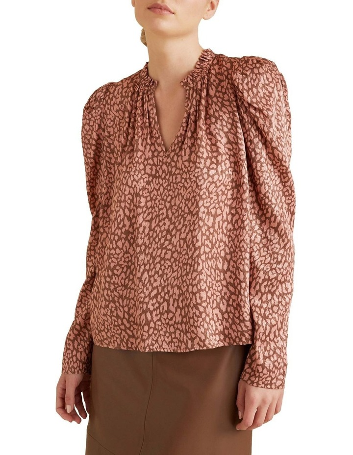 Puff Sleeve Ocelot Blouse image 1