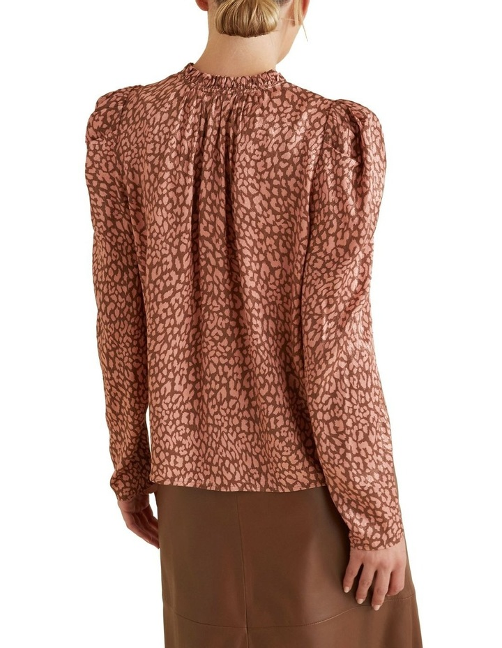 Puff Sleeve Ocelot Blouse image 3