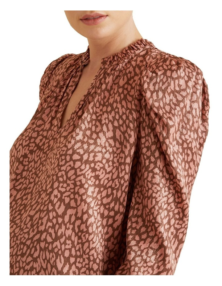 Puff Sleeve Ocelot Blouse image 4