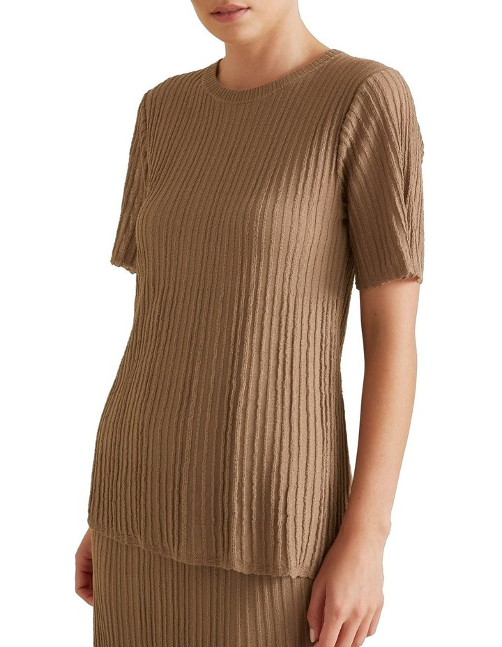 Pleated Knit Top image 1