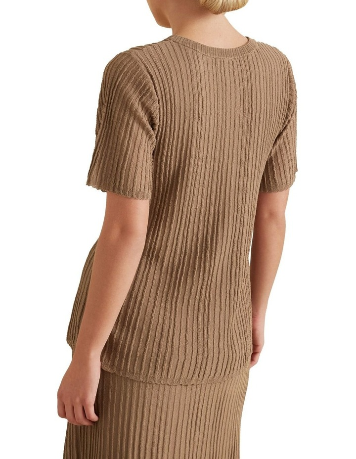 Pleated Knit Top image 3