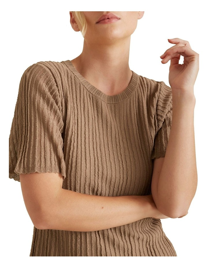 Pleated Knit Top image 4