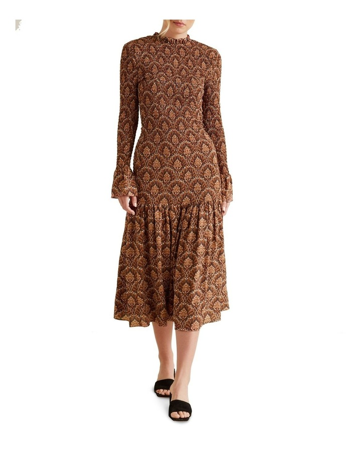 Shirred Maxi Dress image 1