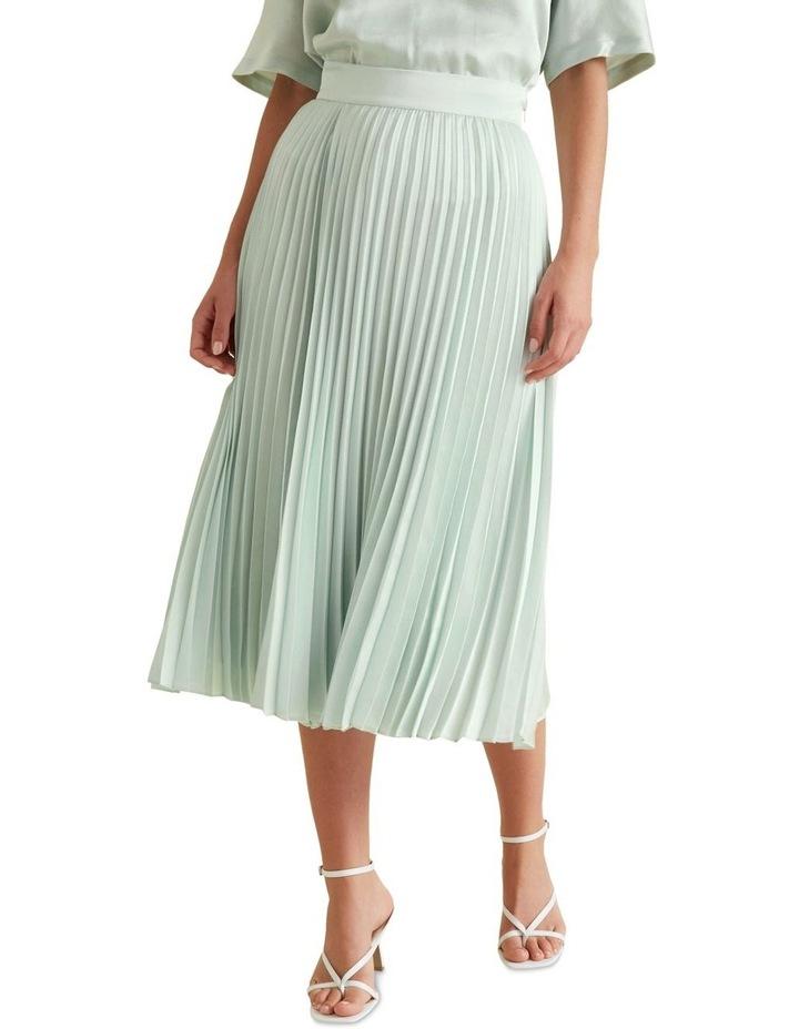 Textured Pleat Skirt image 1