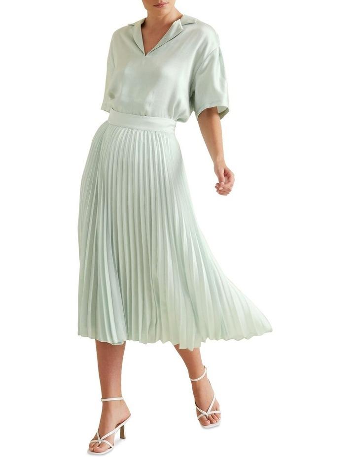Textured Pleat Skirt image 2