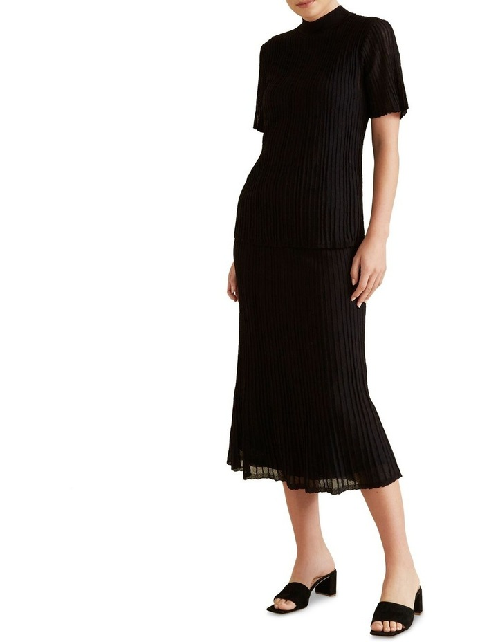 Pleated Knit Skirt image 2