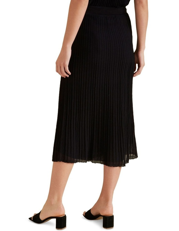 Pleated Knit Skirt image 3
