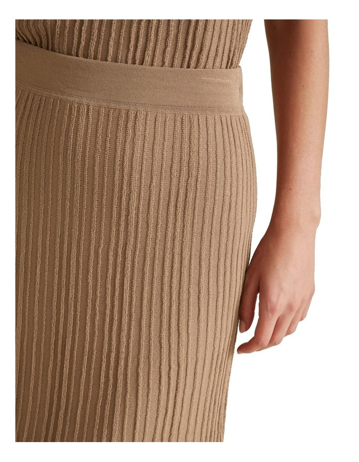 Pleated Knit Skirt image 4