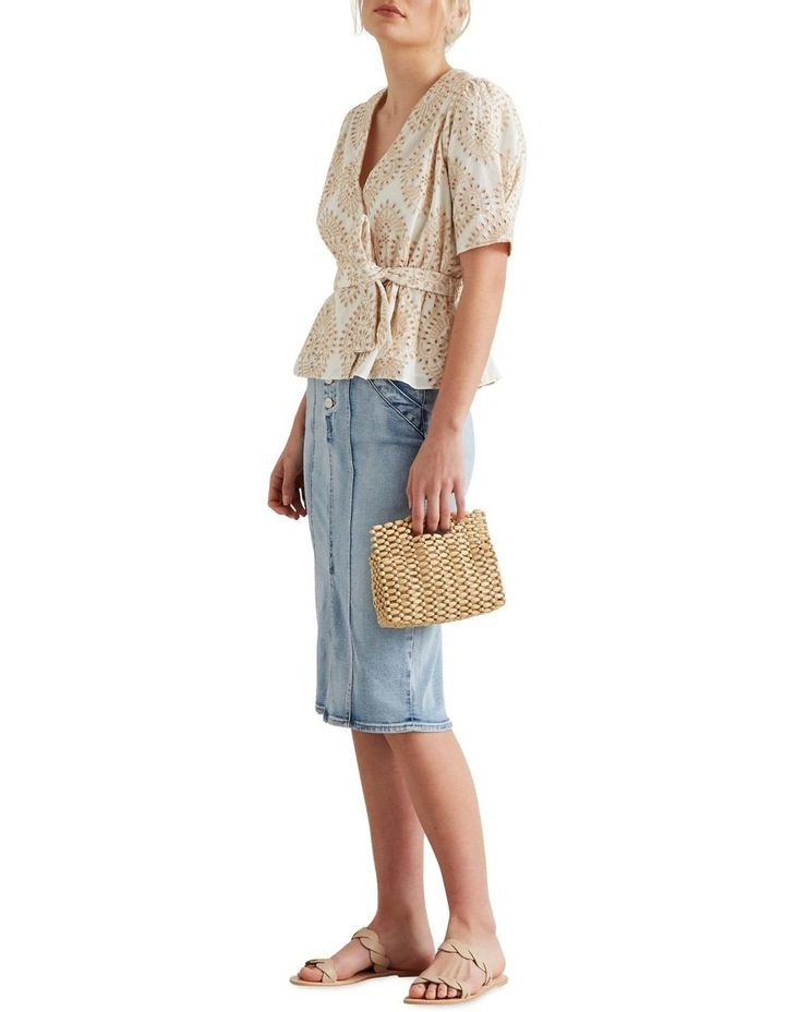 Two Tone Broderie Wrap Top image 2