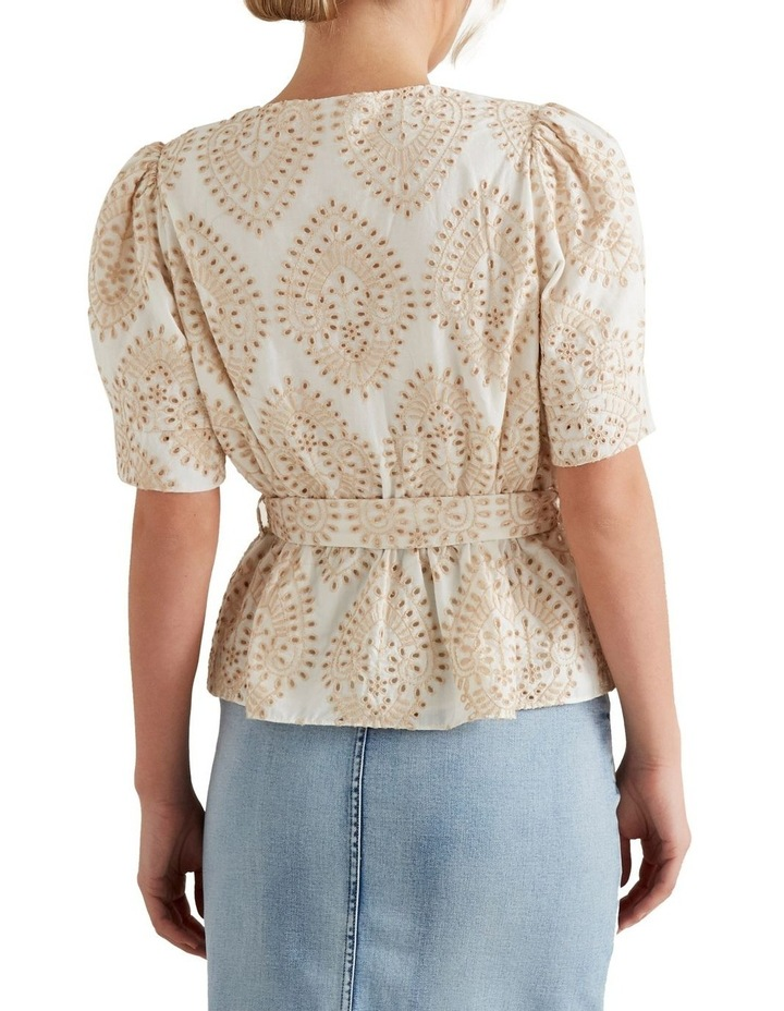 Two Tone Broderie Wrap Top image 3