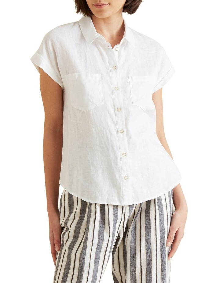 Short Sleeve Linen Shirt image 1