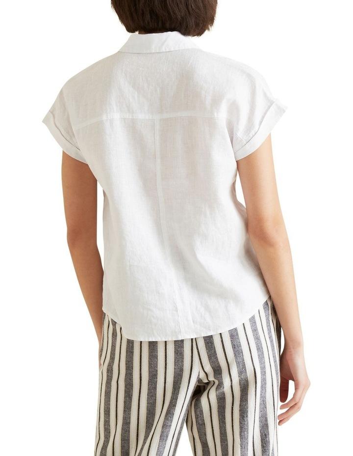 Short Sleeve Linen Shirt image 3