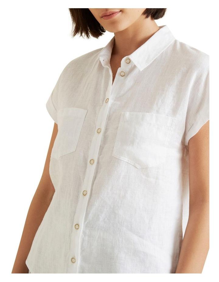 Short Sleeve Linen Shirt image 4