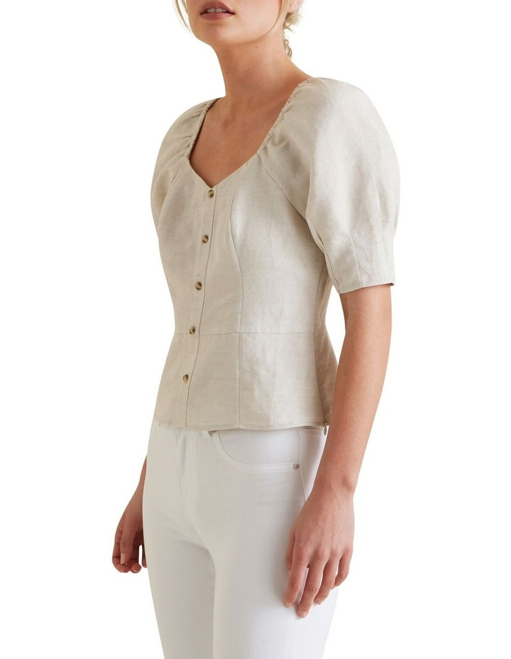 Fitted Puff Sleeve Blouse image 1