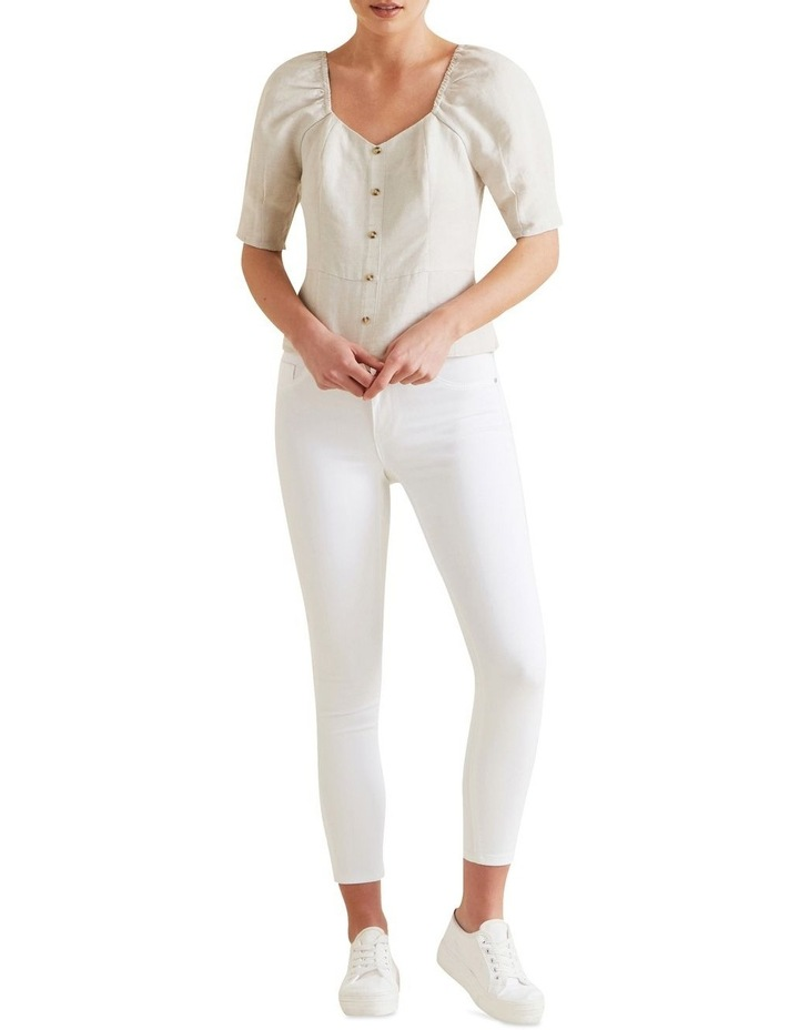 Fitted Puff Sleeve Blouse image 2
