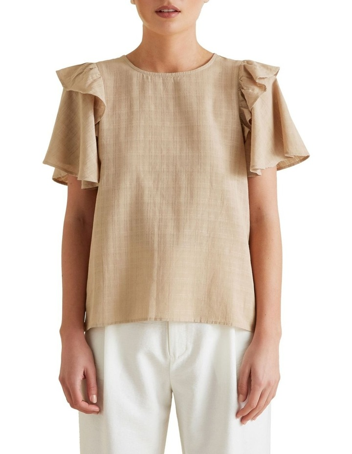Frill Sleeve Check Blouse image 1
