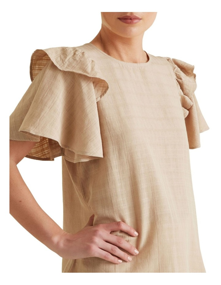 Frill Sleeve Check Blouse image 3