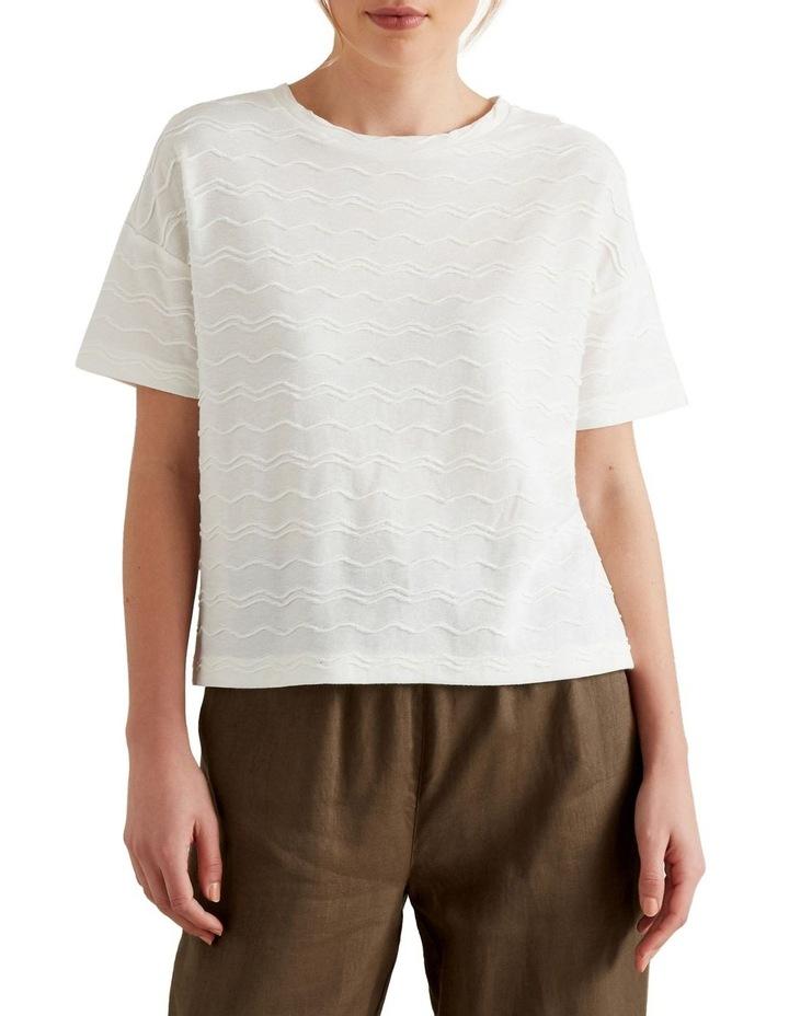 Zig Zag Textured T Shirt image 1