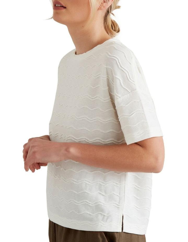 Zig Zag Textured T Shirt image 4