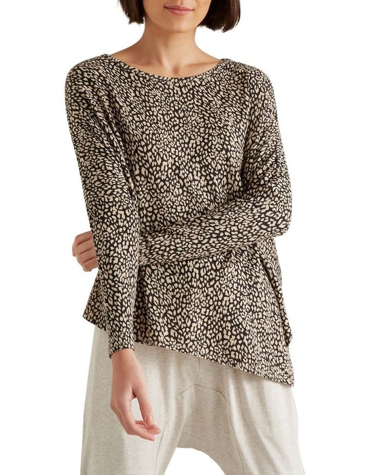 Ocelot Asymmetrical Sweater image 1