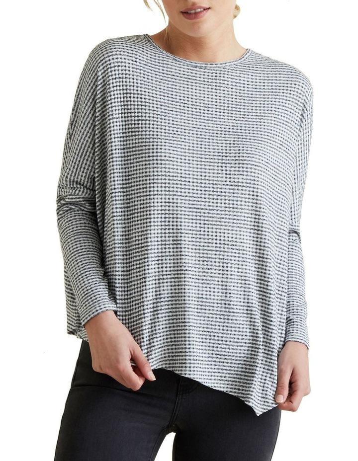 Asymmetrical Stripe Sweater image 1