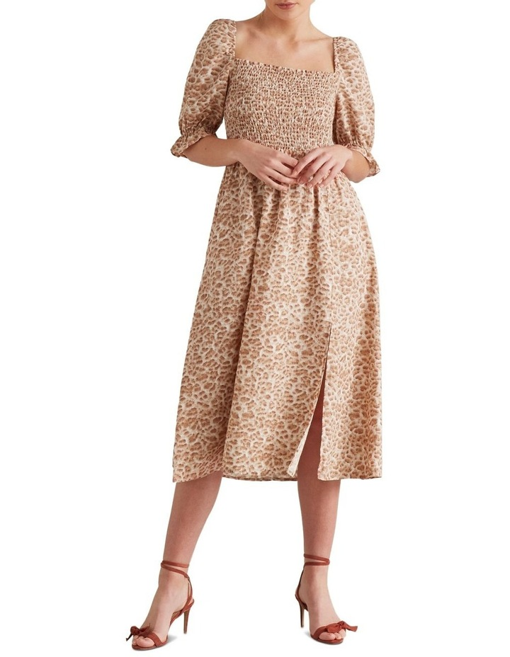 Shirred Animal Print Dress image 1
