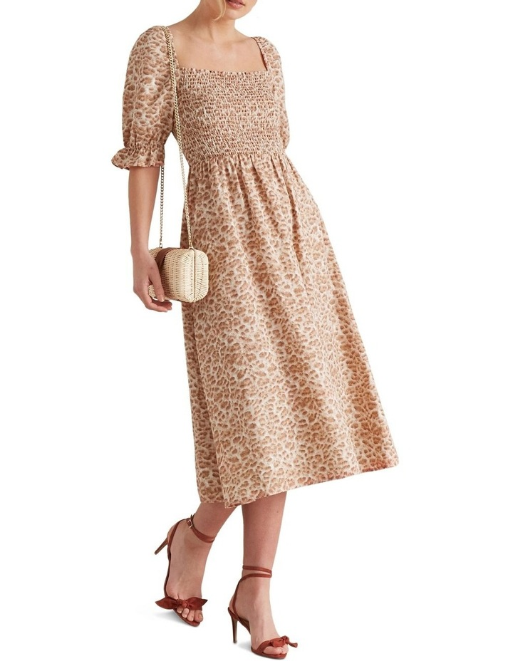Shirred Animal Print Dress image 2