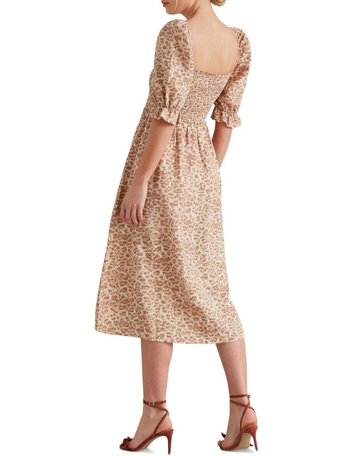 Shirred Animal Print Dress image 3