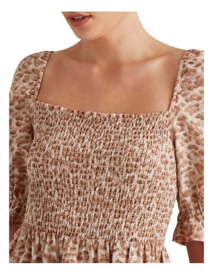 Shirred Animal Print Dress image 4