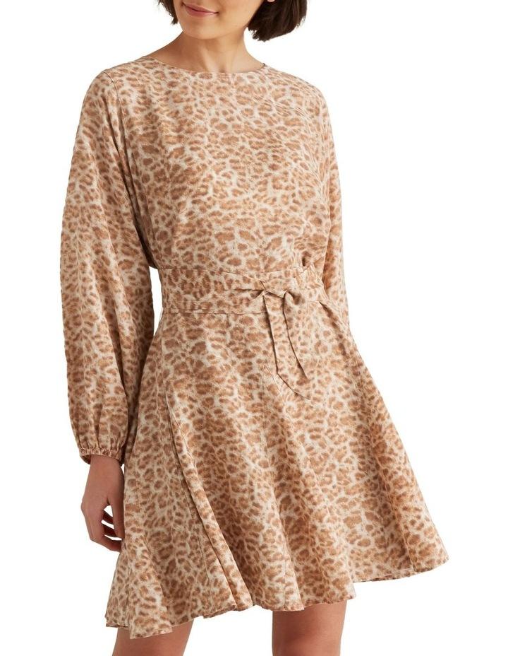 Fluted Animal Print Dress image 1