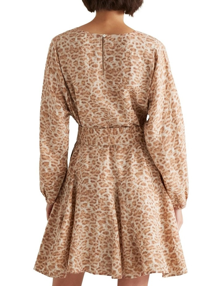 Fluted Animal Print Dress image 3
