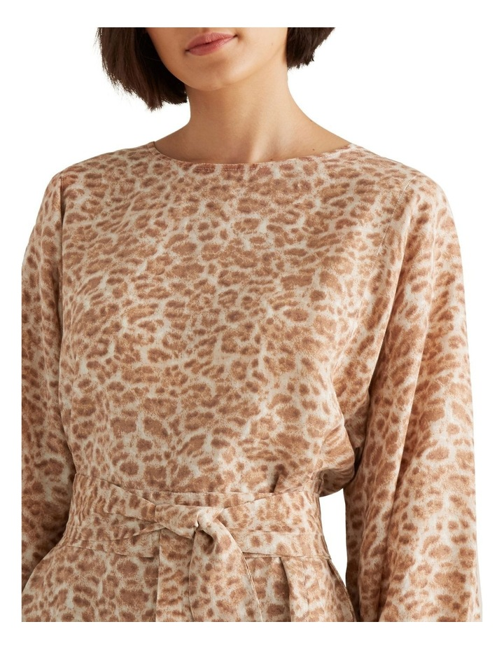 Fluted Animal Print Dress image 4