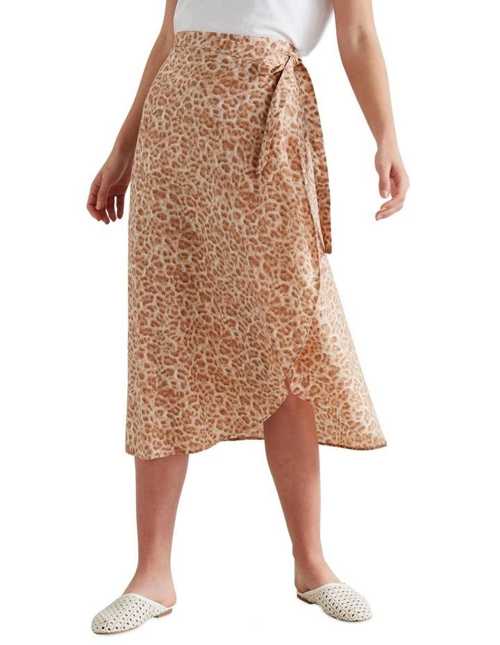 Wrap Animal Print Skirt image 1