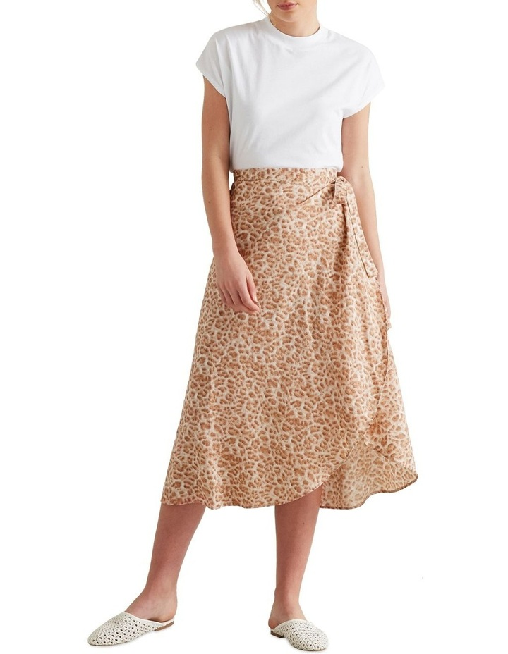 Wrap Animal Print Skirt image 2