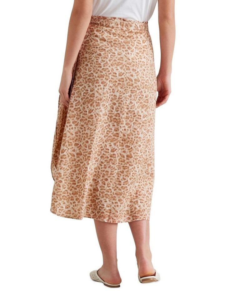 Wrap Animal Print Skirt image 3
