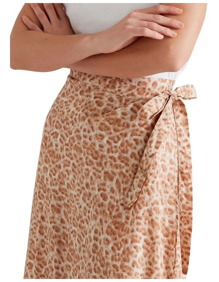 Wrap Animal Print Skirt image 4