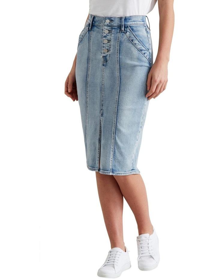 Denim Midi Skirt image 1