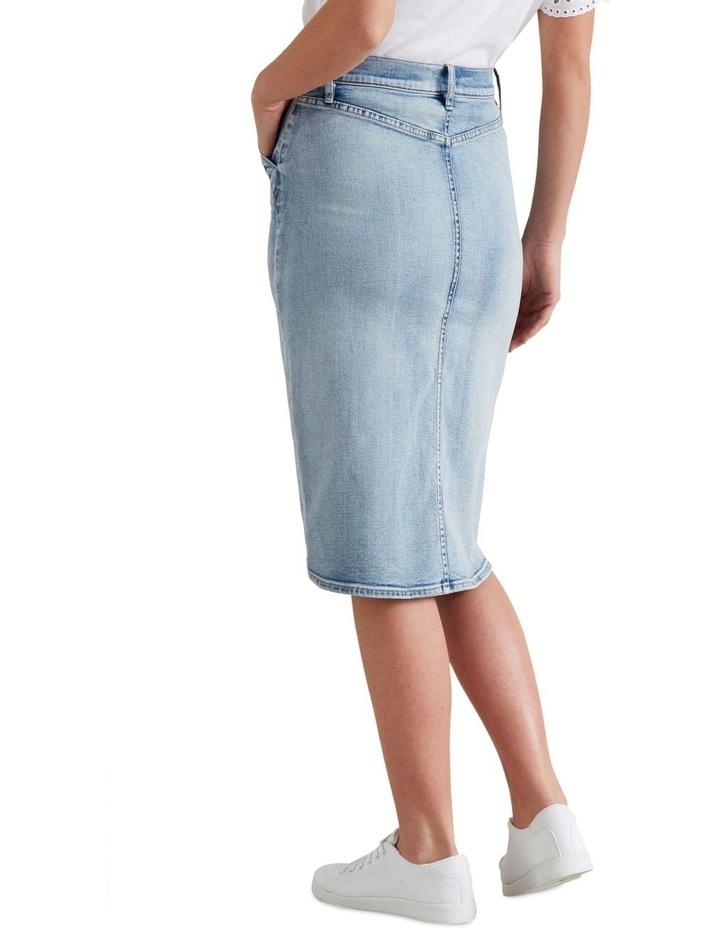 Denim Midi Skirt image 3