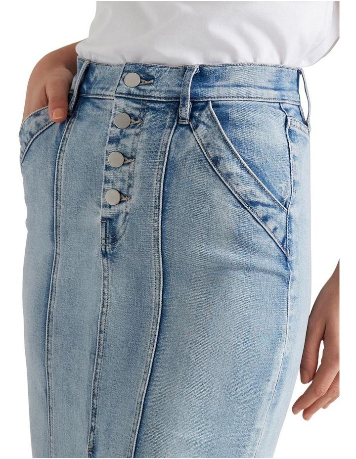 Denim Midi Skirt image 4