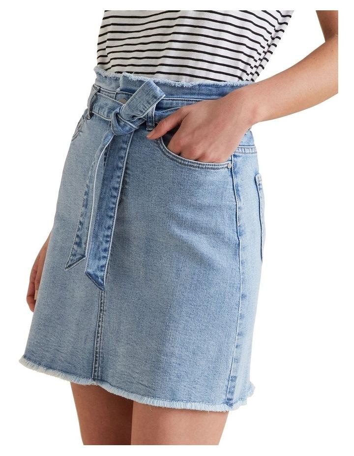 Belted Denim Skirt image 1