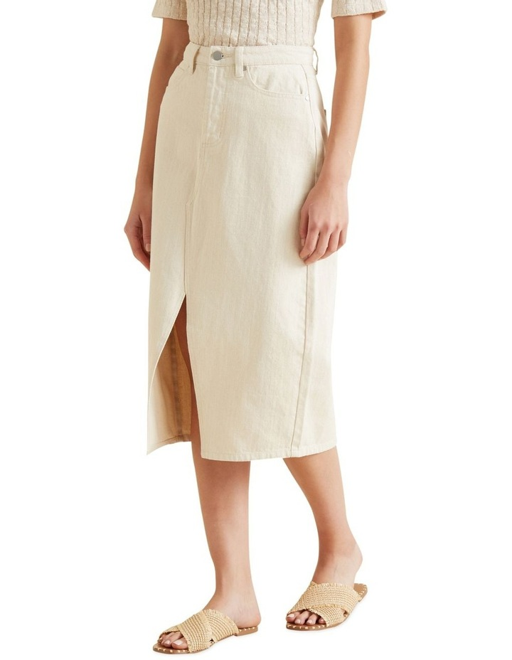 Longline Denim Skirt image 1
