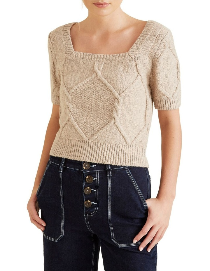 Square Neck Cable Knit image 1