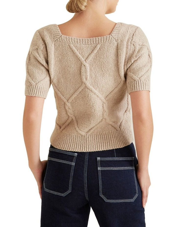 Square Neck Cable Knit image 3