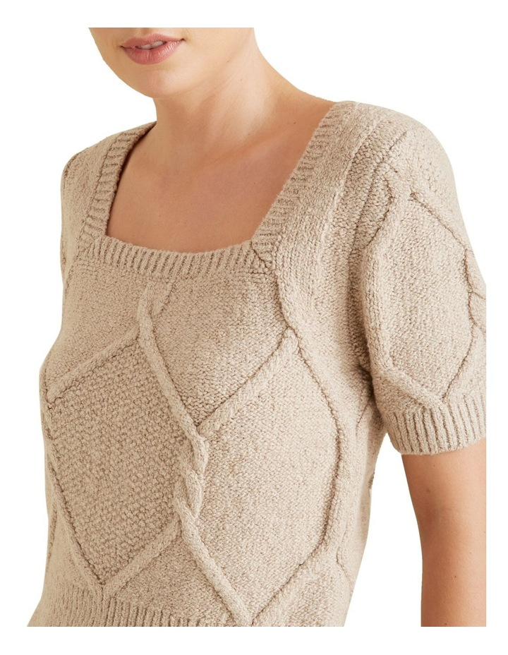 Square Neck Cable Knit image 4
