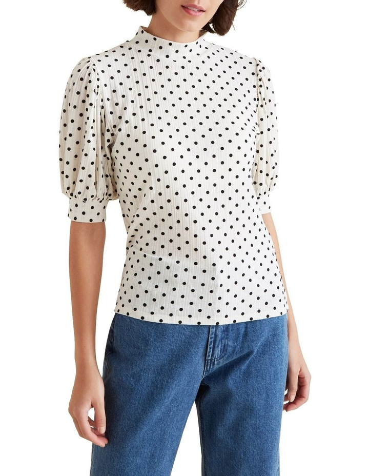 Spot Puff Sleeve Top image 1
