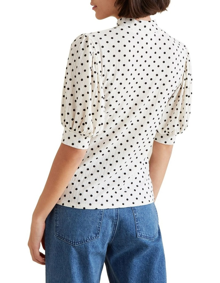 Spot Puff Sleeve Top image 3