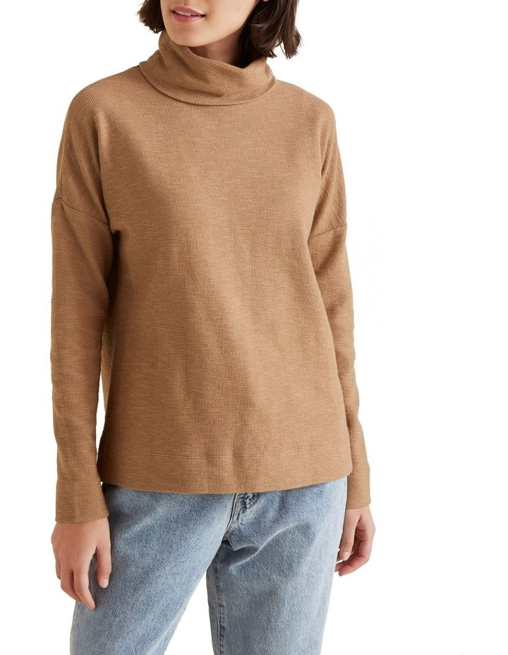 Roll Neck Textured Top image 1